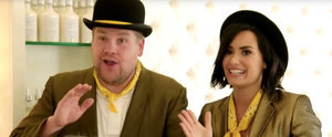 These People Don't Know How to React to Singing Telegrams From Demi Lovato and James Corden