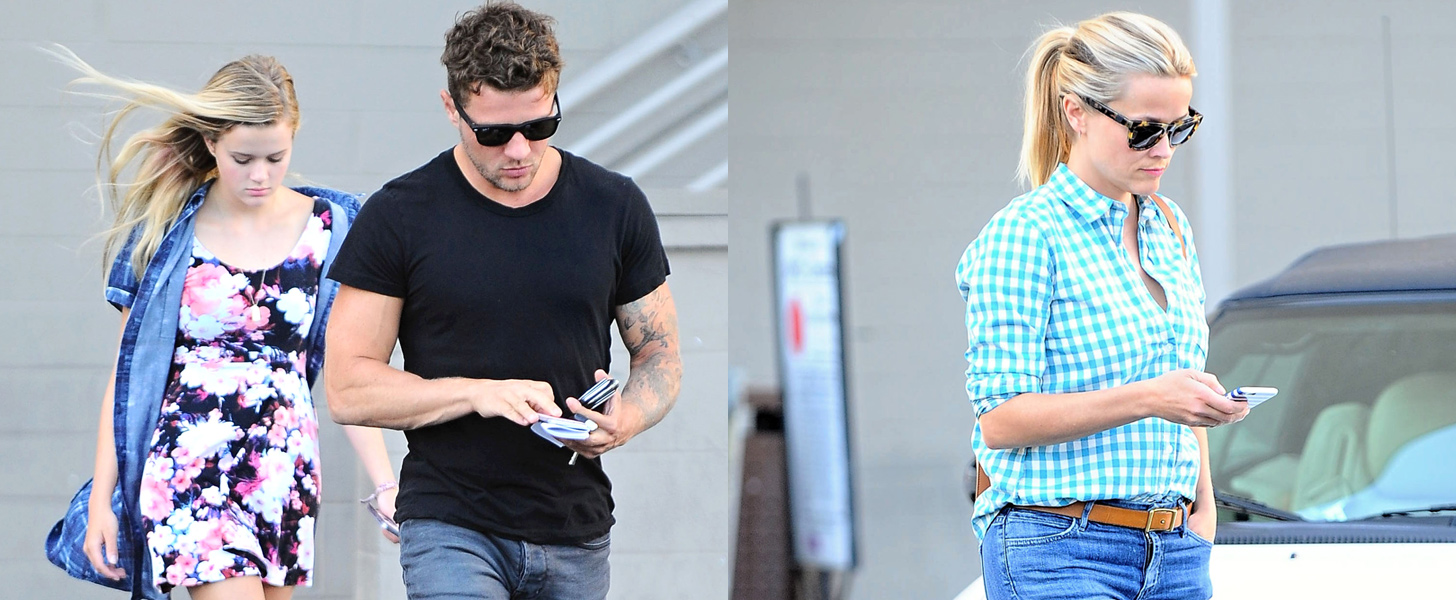 Reese and Ryan Reunite For an LA Outing With Their Daughter, Ava