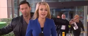 Hugh Jackman Photobombs a Reporter on Live TV, She Remains Oddly Calm