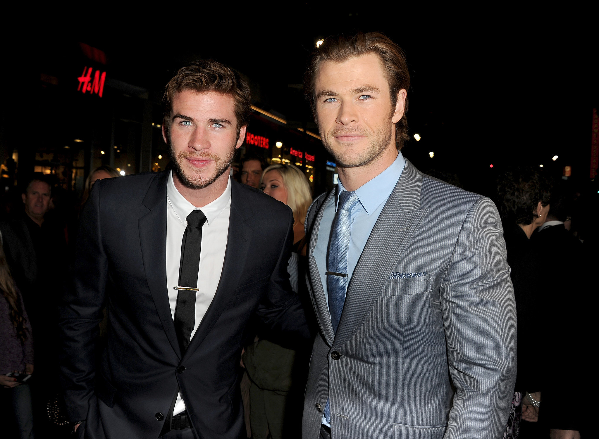 The Hemsworth brothers smouldered at the LA premiere of ...
