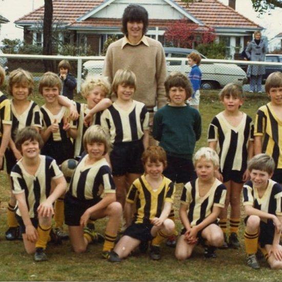 Hugh Jackman Childhood Soccer Team Throwback Photo