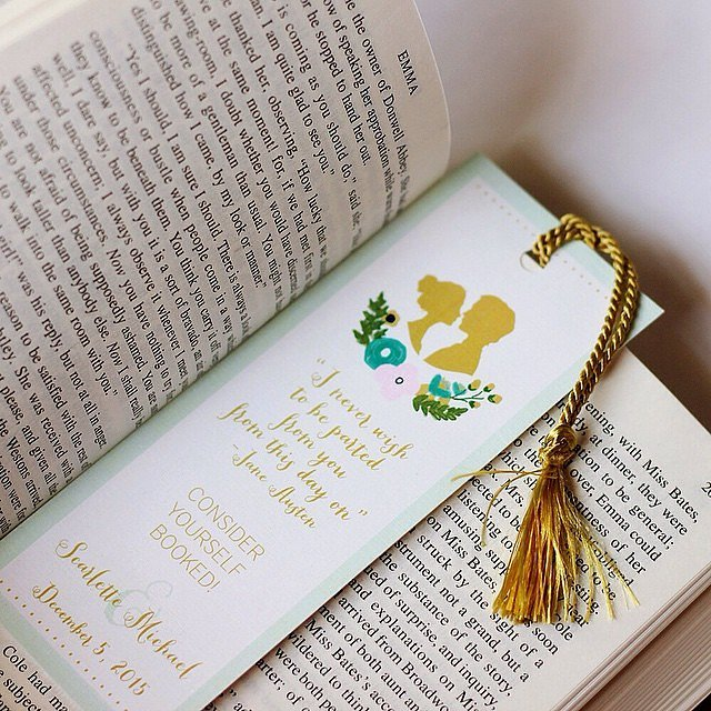 Book Mark Save-the-Date Cards