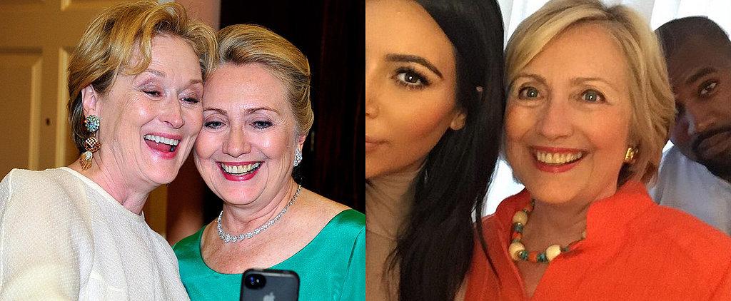 Hillary Clinton Is Already the President of Star-Studded Selfies