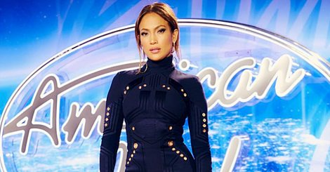 Jennifer Lopez Promotes The Last Season Of 'American Idol' In A Minidress