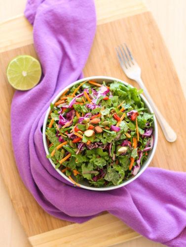 Goji Kale Slaw - Eat Spin Run Repeat