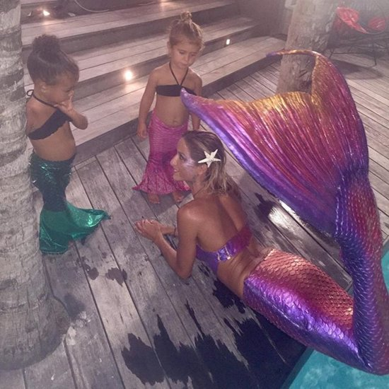 North West and Penelope Disick Mermaid Instagram Picture