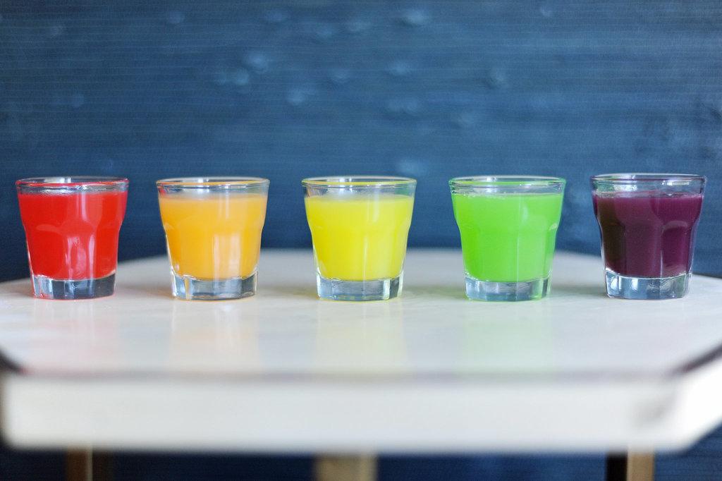 Skittles-Infused Vodka Rainbow Shots