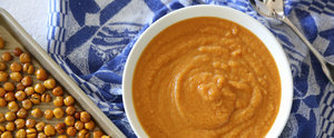 Pumpkin and Chickpeas Combine For the Creamiest Vegan Soup Ever