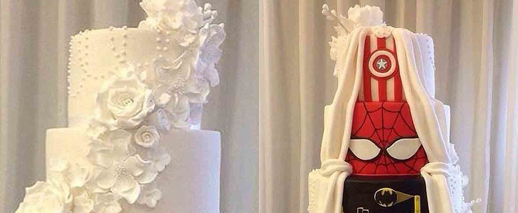 This 2-Sided Wedding Cake Is the Coolest Design EVER