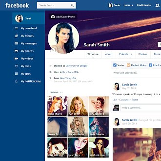 Facebook Redesign Chrome Extension