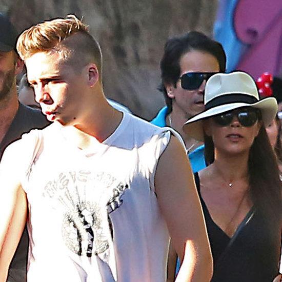 Beckham Family at Disneyland August 2015