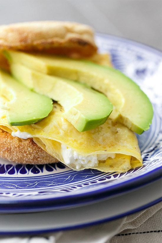 Goat cheese avocado egg sandwiches