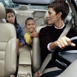 Moms in School Carpool Line