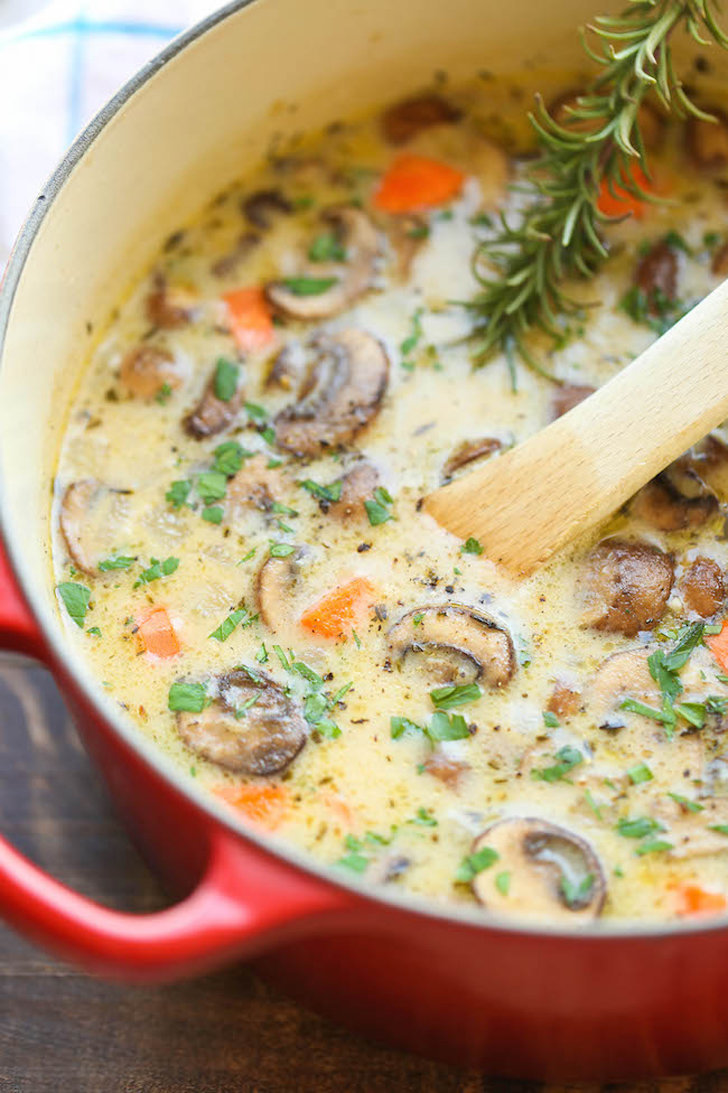 Creamy Chicken Mushroom Soup 15 Chicken Soup Recipes To Get You Through Cold And Flu Season
