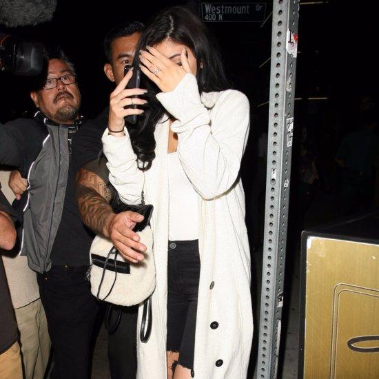 Kylie Jenner Wearing a Long Sweater
