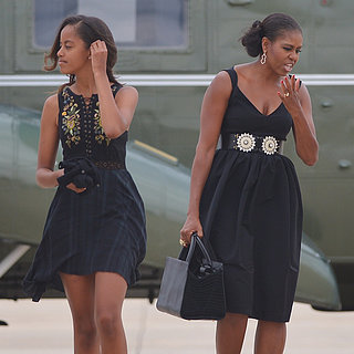 Malia and Michelle Obama Wearing Similar Clothes