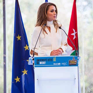 Queen Rania's Style in Paris