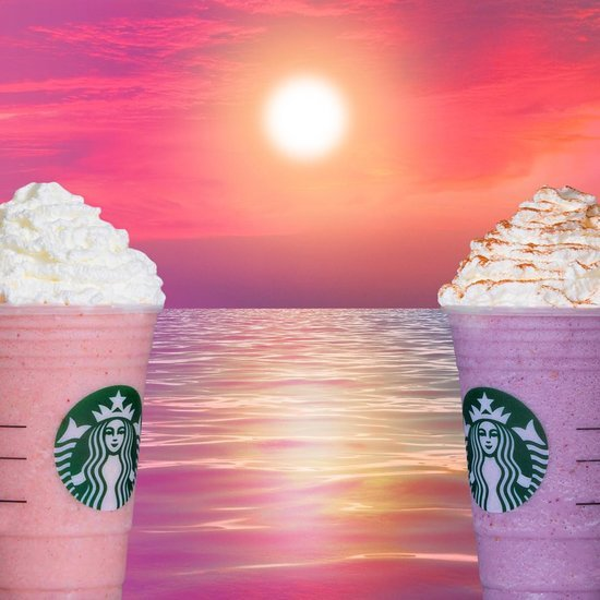 Starbucks Strawberry Shortcake and Blackberry Frappuccinos