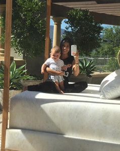 Kourtney Kardashian Bonds With Son Reign As Scott Disick Parties With Kylie Jenner and Tyga