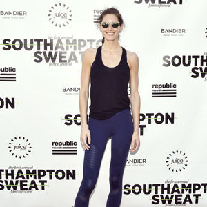 Hilary Rhoda Talks Fitness at Southampton Sweat