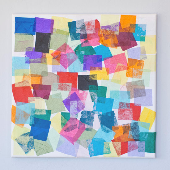 Tissue Paper Art Project For Kids