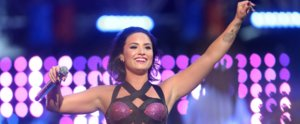 Demi Lovato's Microphone Picked Up a Very Inspiring Pre-VMAs Moment