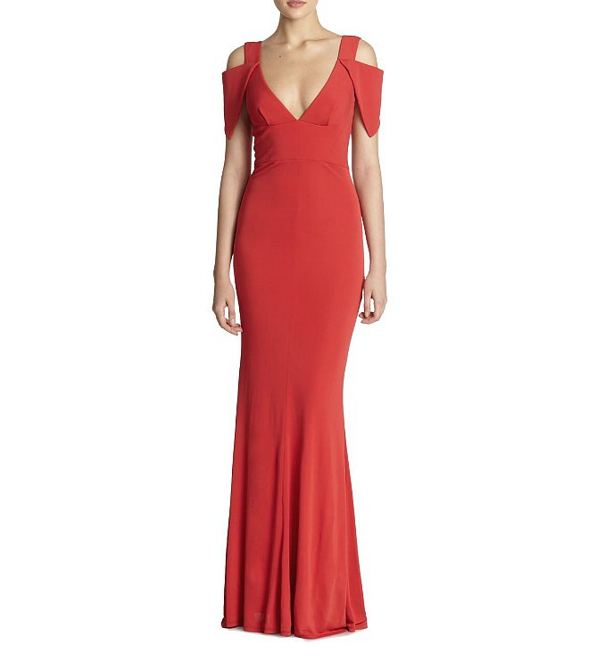 ABS by Allen Schwartz Deep V Gown ($390)