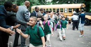 Group Of 100 Black Male Professionals Greet Students On First Day, Help Bust Stereotypes