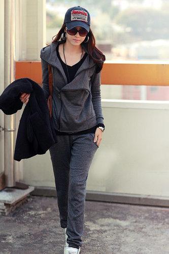 Fashion Long Sleeve Grey Cotton Regular Cardigan Sweater - Vuhera.com