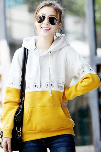 Winter Woman Long Sleeve Regular Cotton Pullover - Vuhera.com