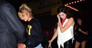 Hailey Baldwin Grabs Kendall Jenner's Leather-Clad Butt