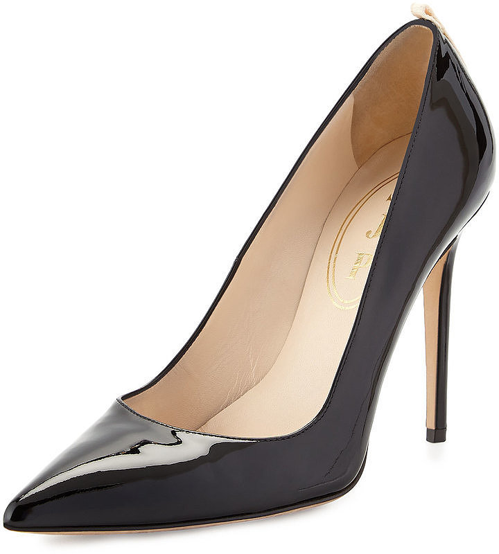 SJP by Sarah Jessica Parker Fawn Patent Point-Toe Pump ($350)