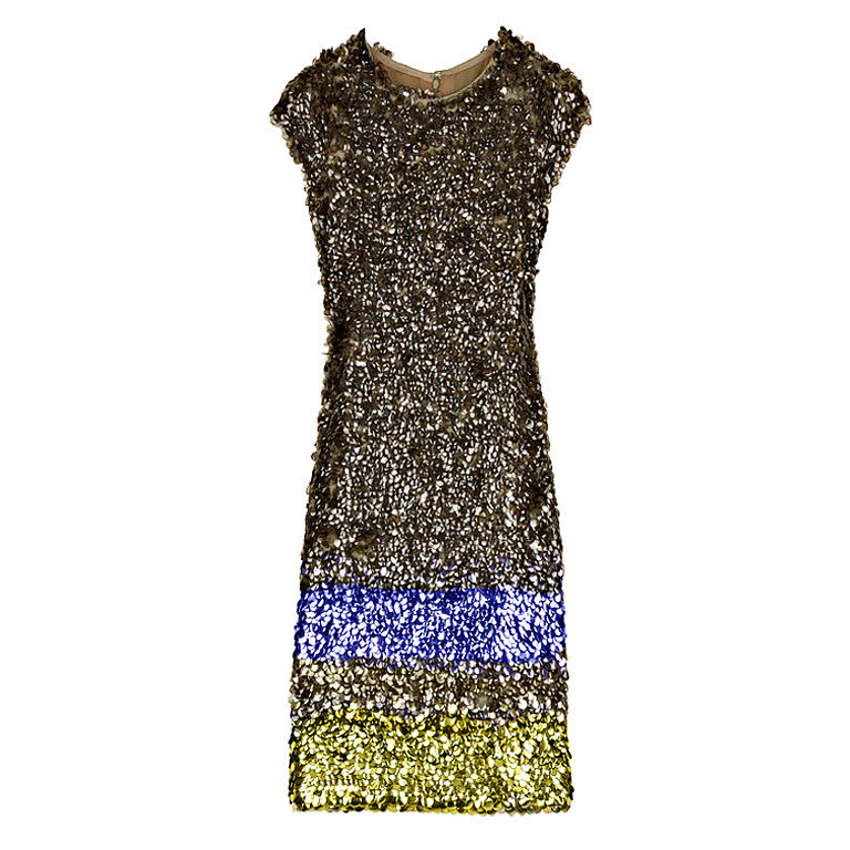 Oscar de la Renta Sequin Sprayed Dress ($2,700)