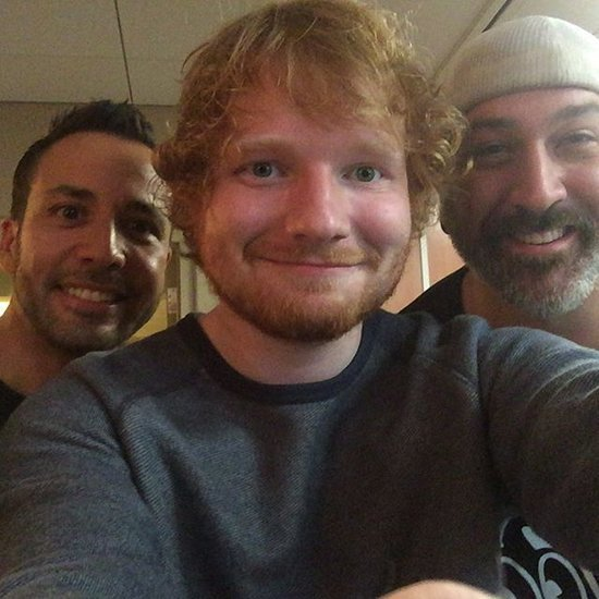 Ed Sheeran, Howie Dorough, and Joey Fatone Instagram Picture