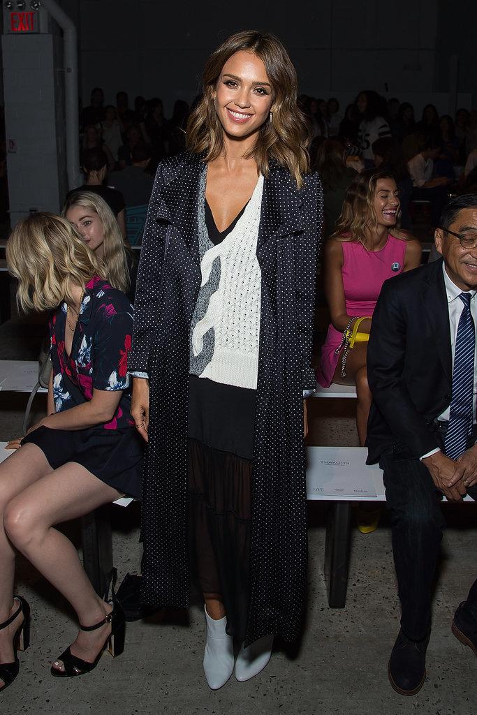 Jessica Alba At Thakoon New York Fashion Show Spring 2016 Popsugar Latina