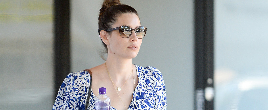 Jessica Biel Steps Out With Her First Baby, Tina