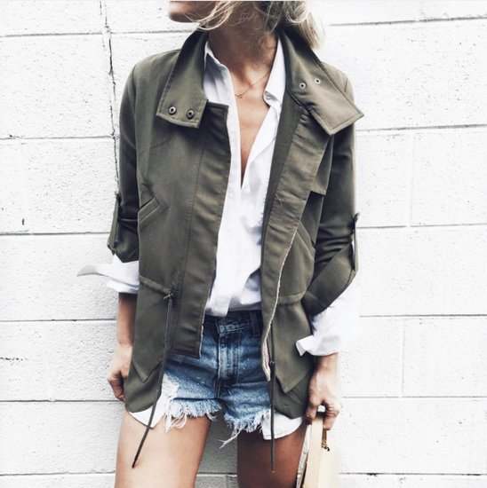 Army Jacket Outfit Ideas