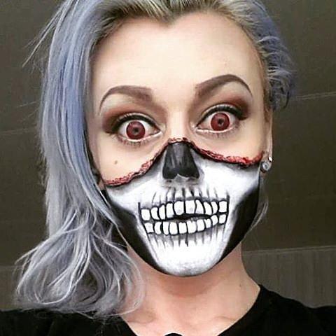Crystal Skull Face Paint