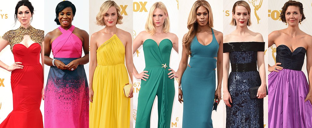 Taste the Rainbow! Emmys Gowns in Every Hue
