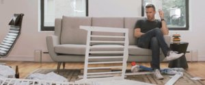Watch Ryan Reynolds Put Together an Ikea Crib Like a Boss