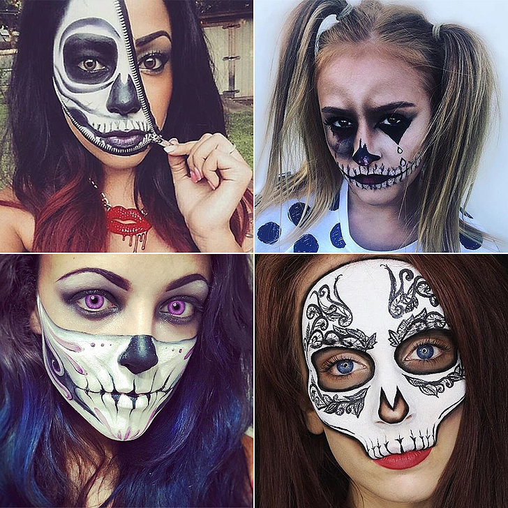 scary sexy skeleton makeup for your best halloween yet - Skeleton Faces Halloween