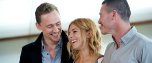 Sienna Miller's the Lucky Lady in a Tom Hiddleston and Luke Evans Sandwich