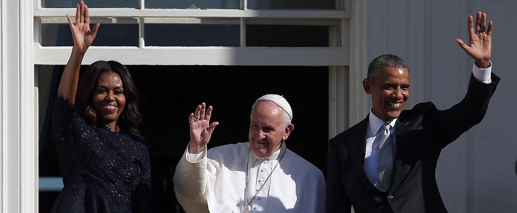 Pope Francis Speaks at the White House Alongside President Obama