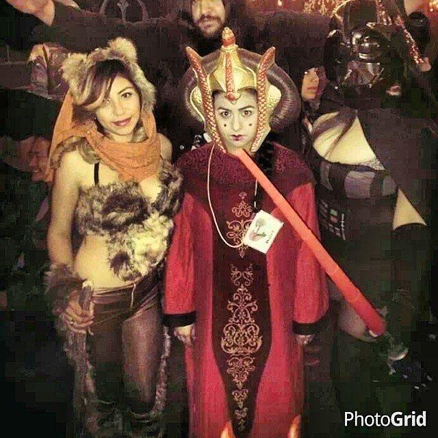 Ewok, Queen Amidala, and Darth Vader