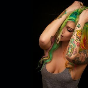 Rainbow Hair and Tattoos