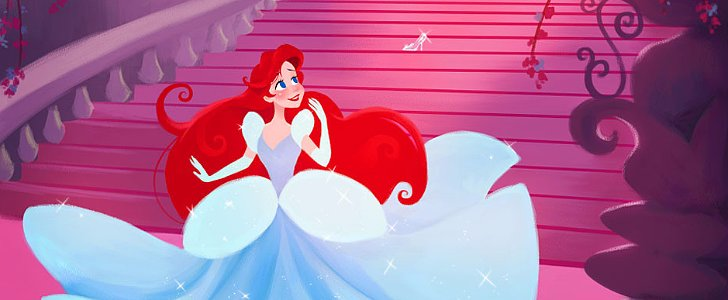 What Happens When the Disney Princesses Take a Walk in Each Other's Shoes?
