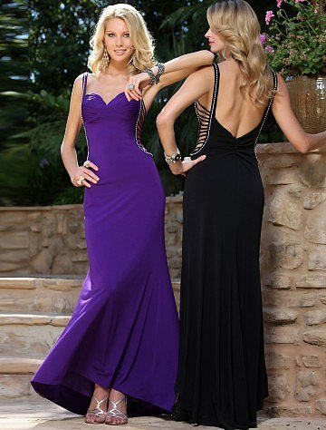 Sheath Column Spaghetti Straps Floor-length Sleeveless Chiffon Dress - Vuhera.com