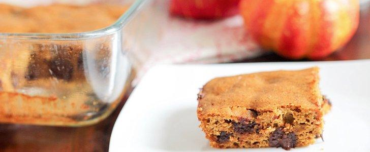 Celebrate Fall With Flourless Pumpkin Chocolate Bars
