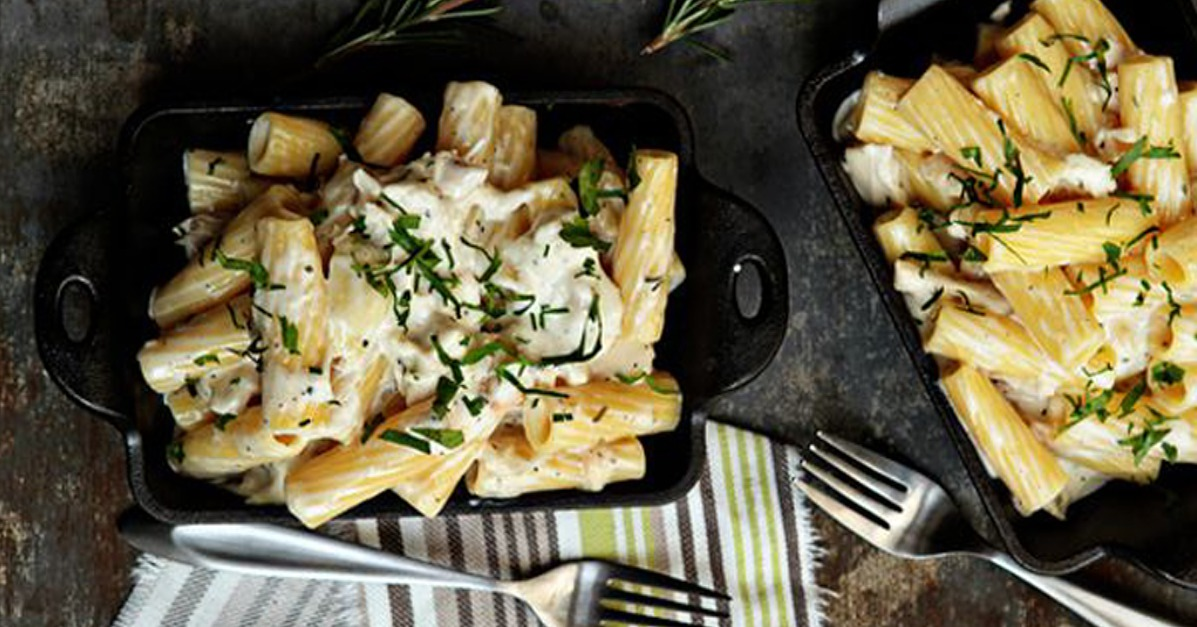 Mac and Cheese With Roasted Chicken and Goat Cheese | POPSUGAR Food