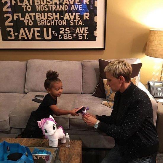North West and Ellen DeGeneres Photo